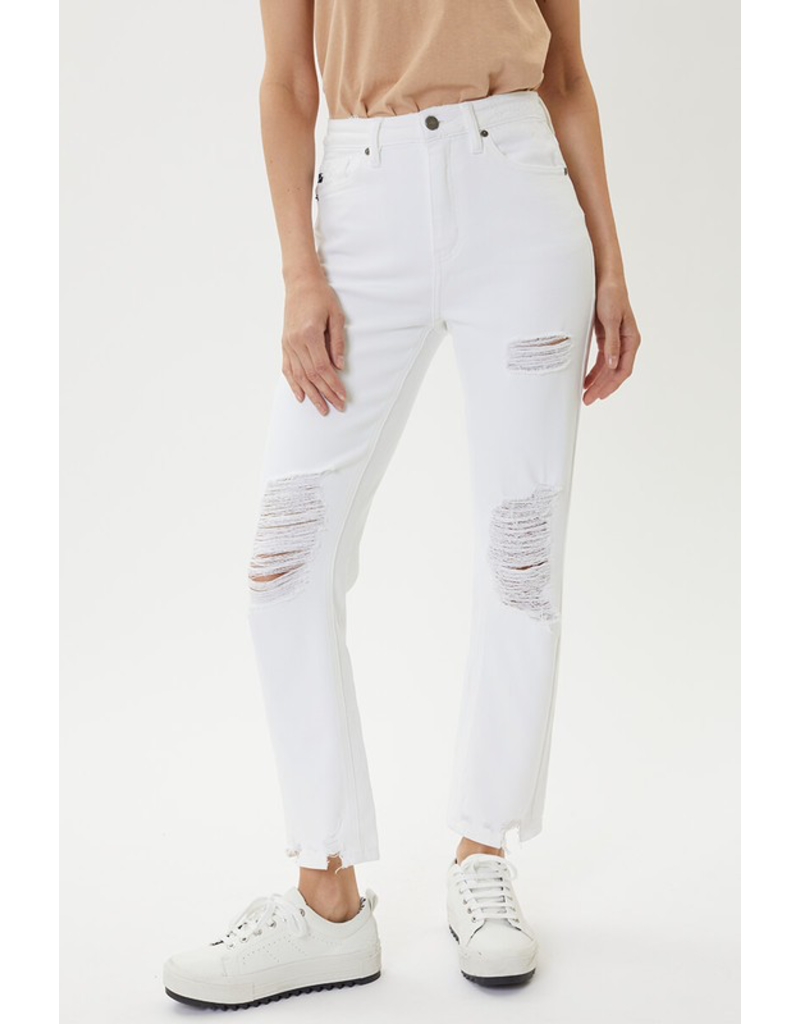 The Memphis Distressed Boyfriend Jeans - White