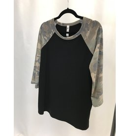 The Perform Camo Print Top
