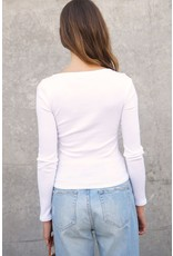 The Sweet Life Square Neck Ribbed Top