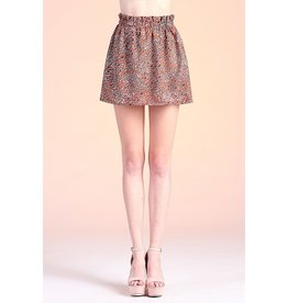 The Candid Leopard Paper Bag Waist Skirt