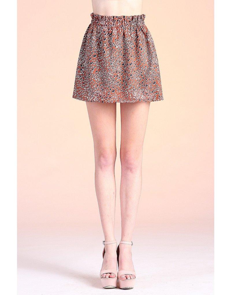The Candid Leopard Paper Bag Waist Skirt