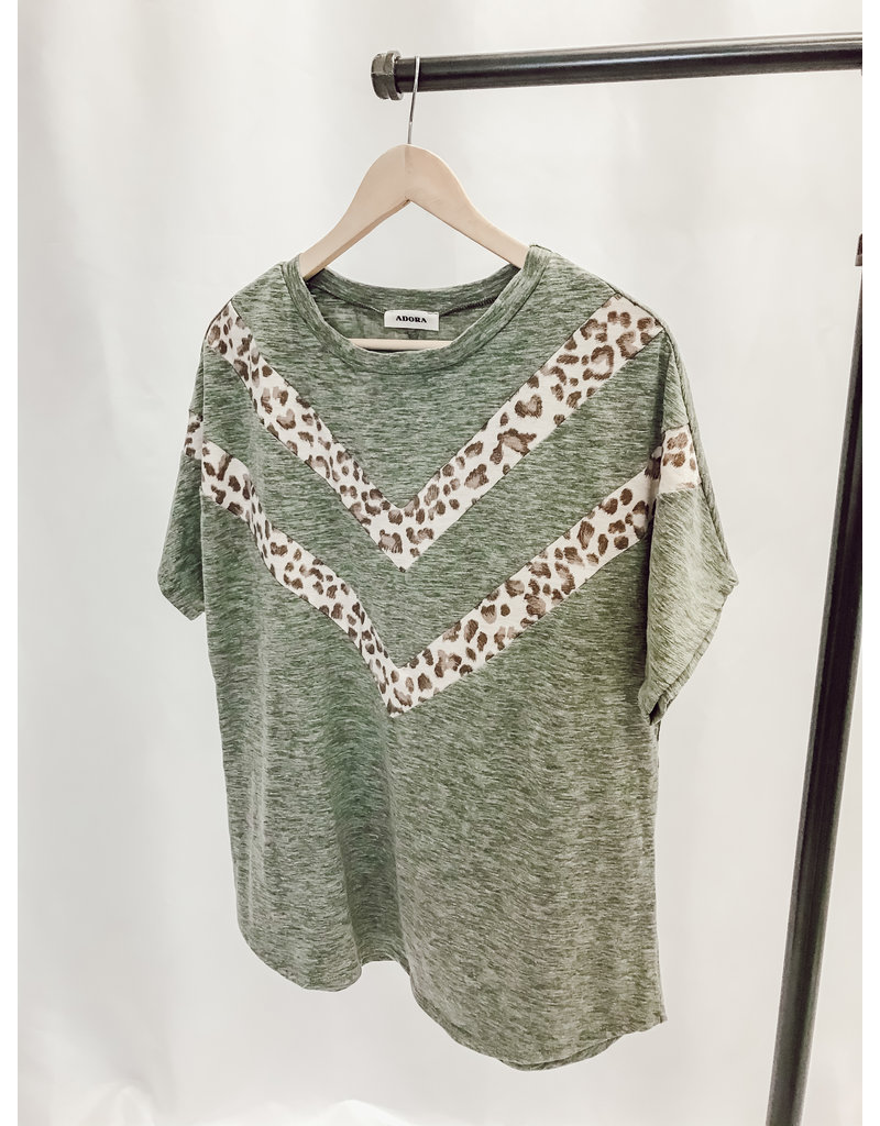 The Libby Leopard Color Block Top