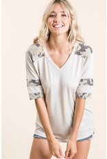 The Motion Camo Color Block Top