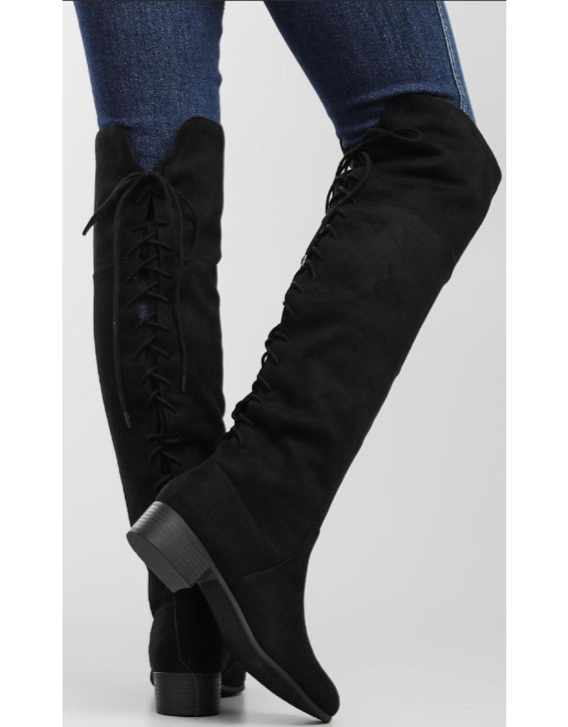 The Barbara Over The Knee Boot - Black
