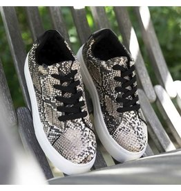 The Royal Snake Print Platform Sneaker