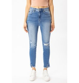 The Kaylee High Rise Frayed Hem Skinny