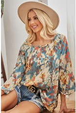 The Taylor Tie Dye Bell Sleeve Top