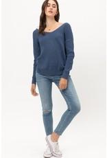 The Olivia Twisted Back Metallic Sweater