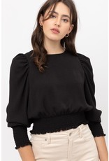 The Whole New World Puff Sleeve Crop Top