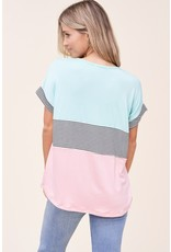 The Madi Striped Color Block Top