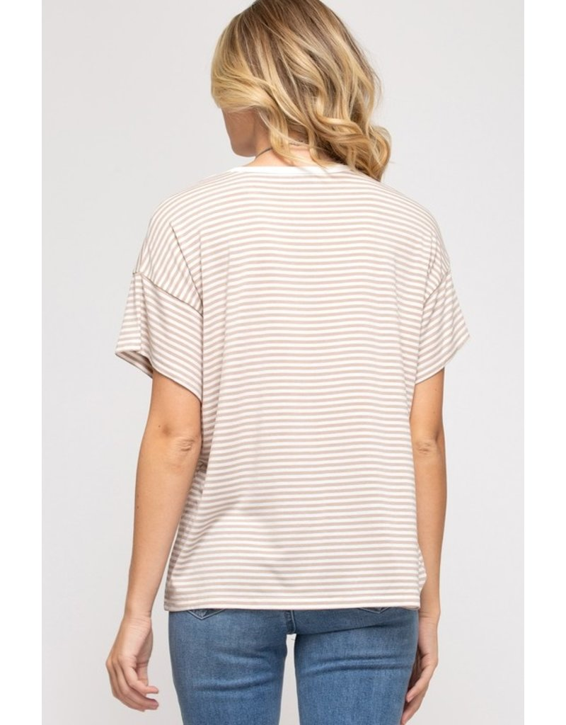 The Cafe All Day Striped Tee