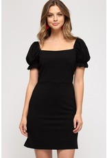 The Perfectly Polished Puff Sleeve Dress