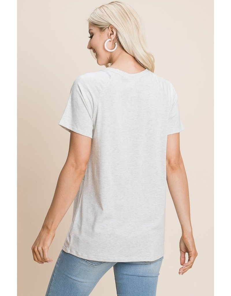 The Jessie Spotted Color Block Tee