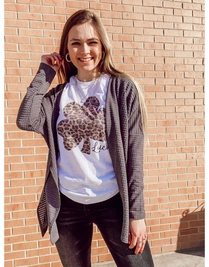 The Lucky Leopard Shamrock Graphic Tee