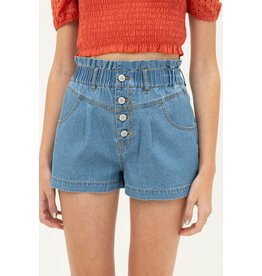 The Monica Button Fly Denim Shorts
