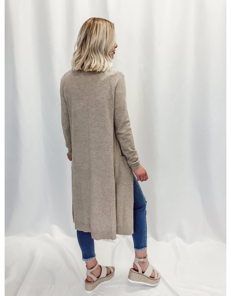 The Christina Pocketed Duster Cardigan