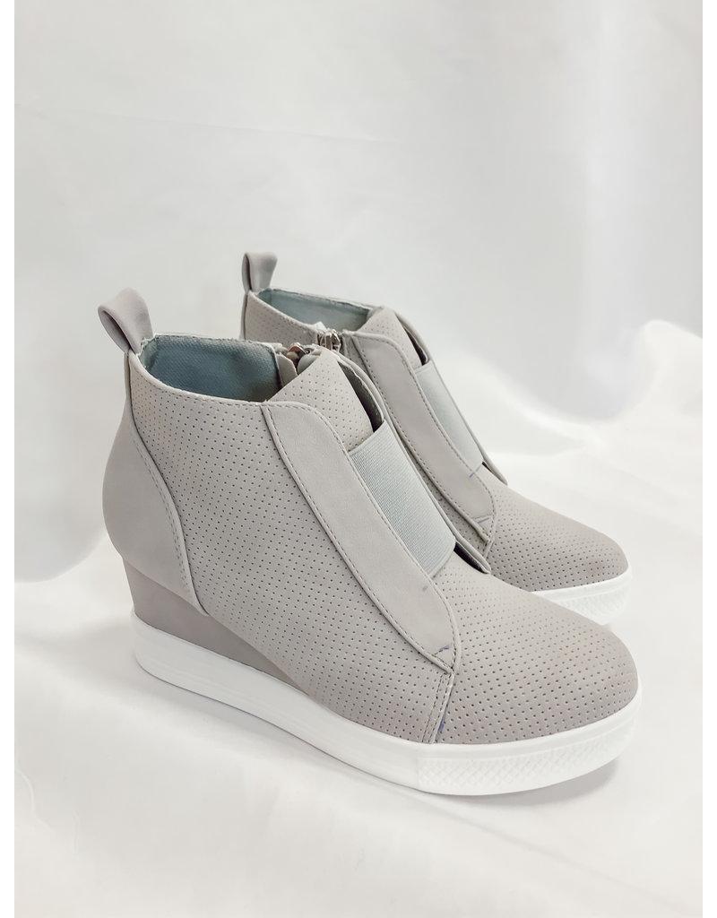 The Zoey Wedge Sneaker - Grey
