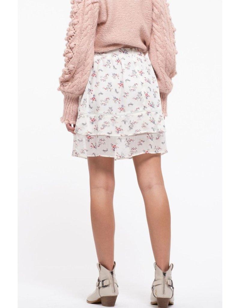 The Amara Floral Mini Skirt