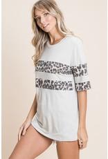 The Milkyway Leopard Color Block Top