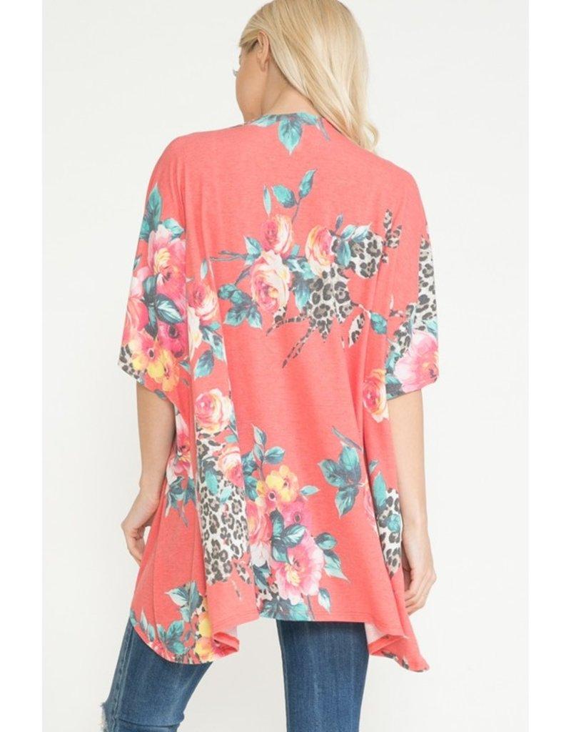 The Bucket List Floral + Leopard Kimono