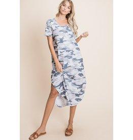 The Camo Queen Midi Dress