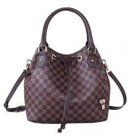 The Brooklyn Check Convertible Bucket Bag