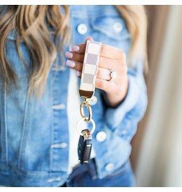 The Brooklyn Check Keychain