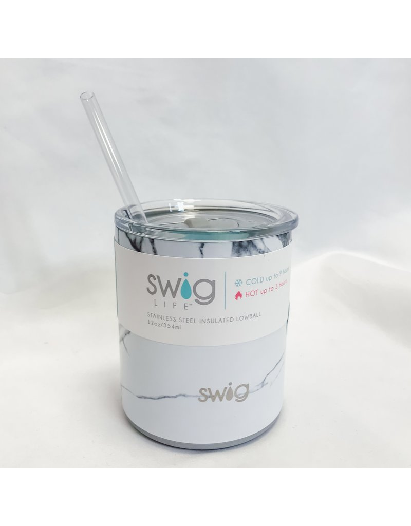 The Swig Insulated Lowball - Marble Slab