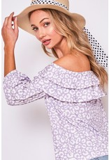 The Piper Leopard Off The Shoulder Top