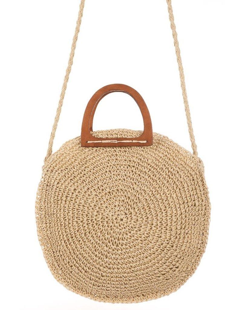 12 PM Santorini Is Calling Straw Bag
