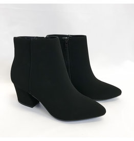 The Georgina Heeled Bootie - Black