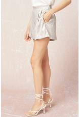 The Life's A Runway Satin Leopard Shorts
