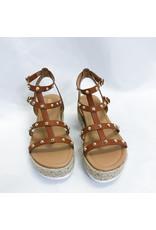 The Leah Studded Espadrille Platform Sandal