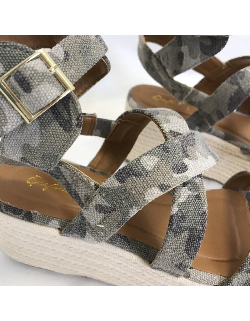 quip Big Bang Camo Espadrille Platform Sandal