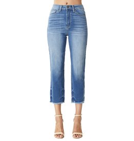 The Aria High Rise Straight Leg Jeans