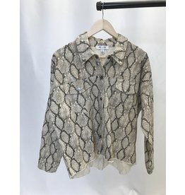 The Colby Snake Print Jacket