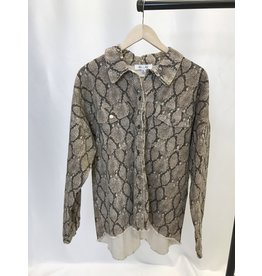 The Curvy Collection - Colby Snake Print Jacket