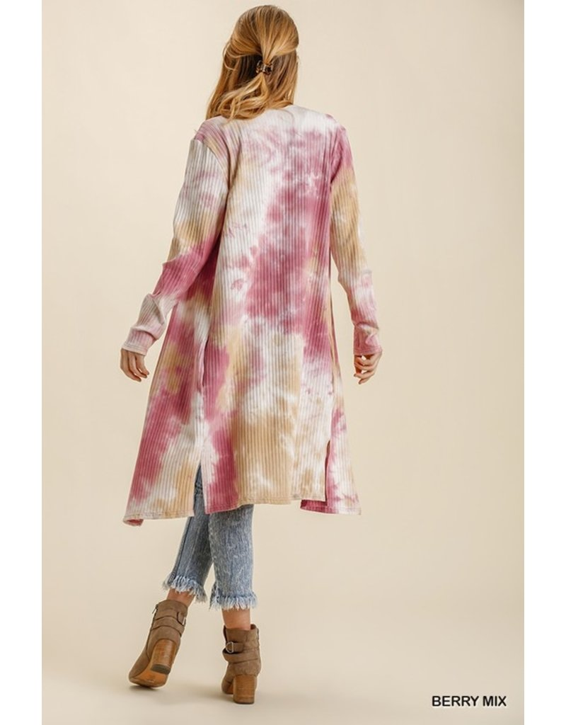 The Happy Hues Tie Dye Duster Cardigan