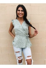 The Got The Gig Spotted Peplum Top