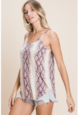 The Wherever You Are Snake Print Top