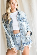 The Denim Daze Acid Wash Distressed Jacket