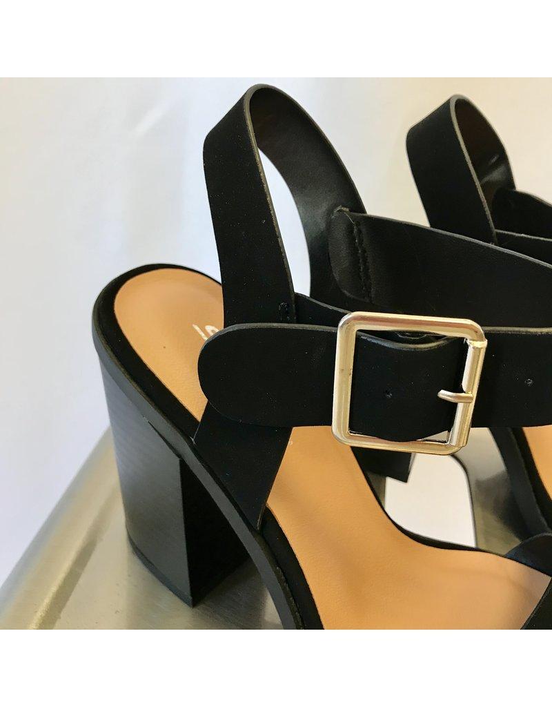 The Peyton Blocked Heel - Black