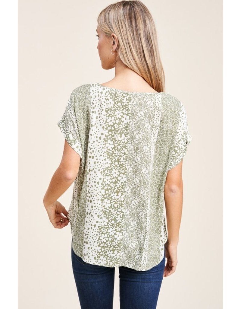The Wrapped In Style Printed Top
