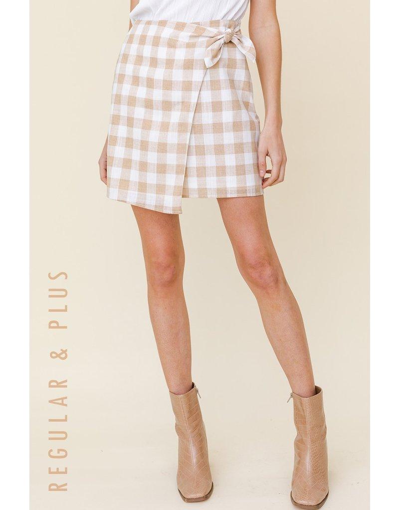 The Meet Me In Paris Gingham Wrap Skirt