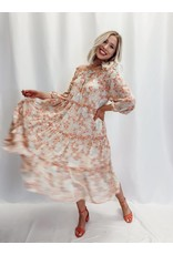 The Brittany Off The Shoulder Floral Midi Dress
