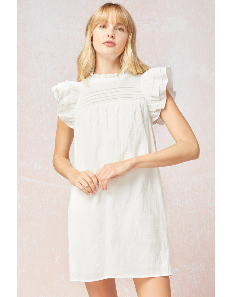 The Katie Ruffled Sleeve Dress