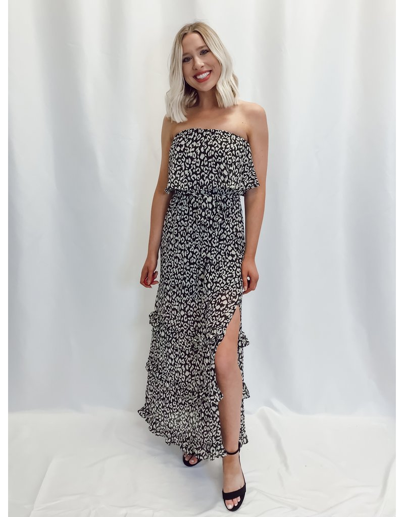 The Stop And Stare Leopard Maxi Dress
