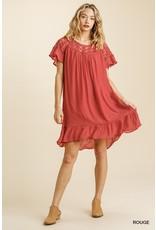 The Hannah Ruffled Lace Dress