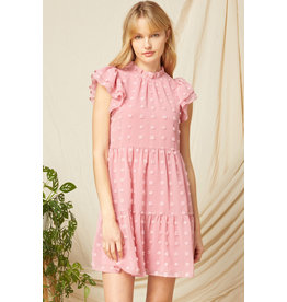 The Pink Lady Swiss Dot Dress