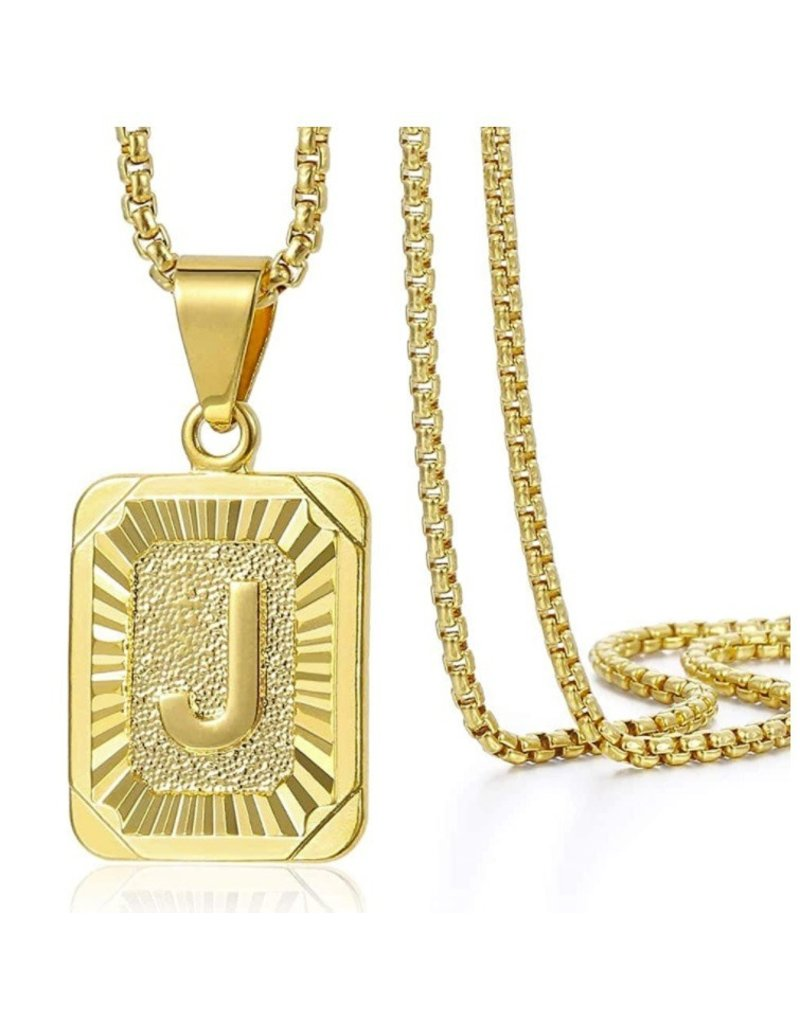 The Initial Card Necklace